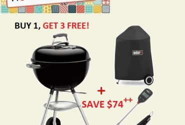 Weber Original Kettle 47cm (18.5″) Charcoal Grill Starter Kit